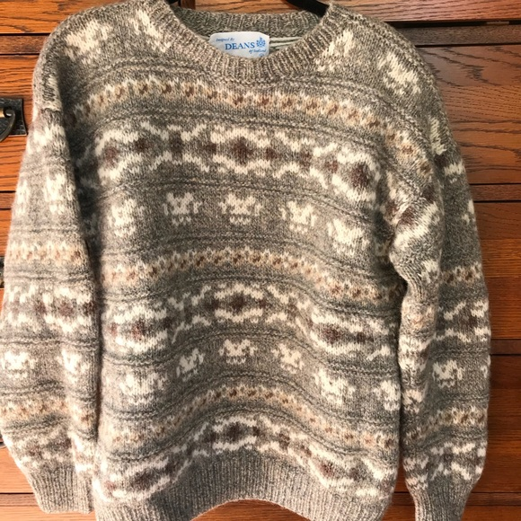 Deans Of Scotland Sweaters 100 Shetland Wool Sweater Made In